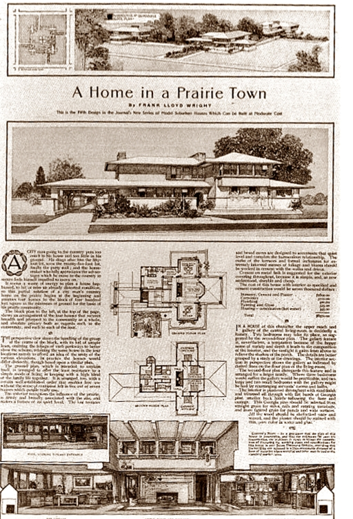 architettura organica l'origine protipi di prairie house