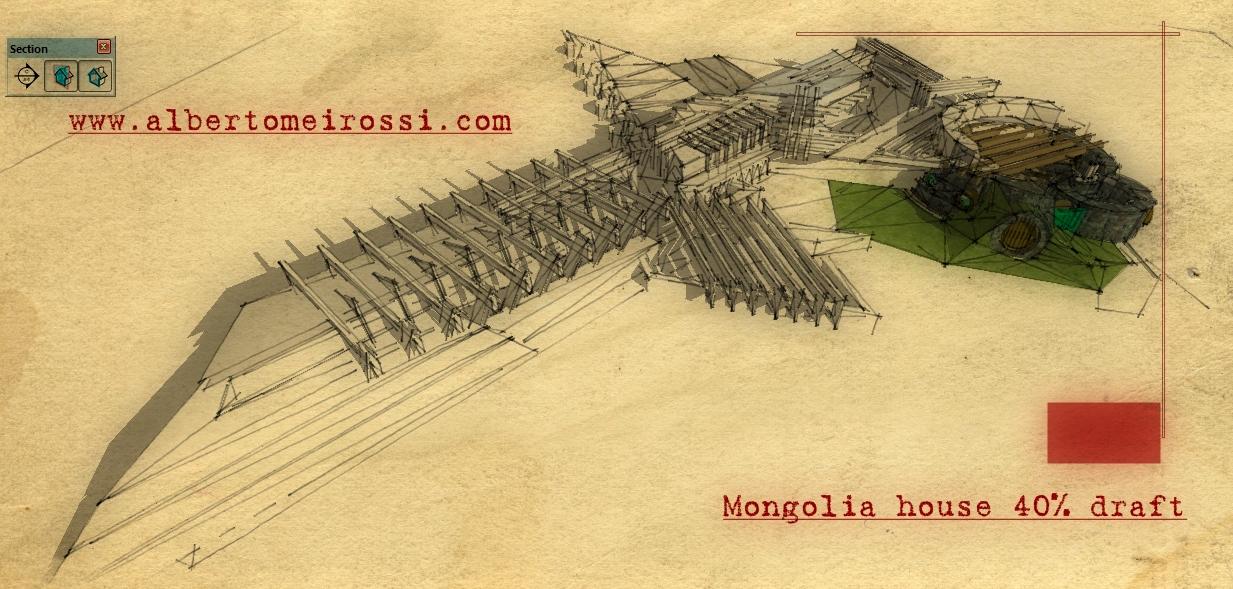 case ad emissione zero Mongolia House