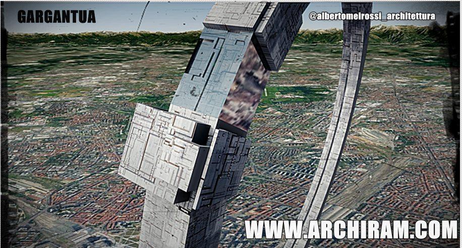 Città futuro sospese in aria